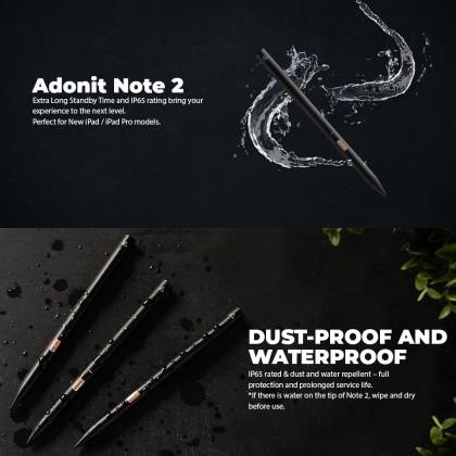 Adonit Note 2 Drawing Designer Stylus Pen Black iPhone iPad 12 mini Pro Max