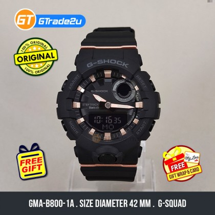 Casio G-Shock Mini Ladies Women GMA-B800-1A GMAB800-1A Analog Digital Step Tracker Watch Black Resin Band Baby G . jam tangan wanita . casio watch . casio watch women [READY STOCK]