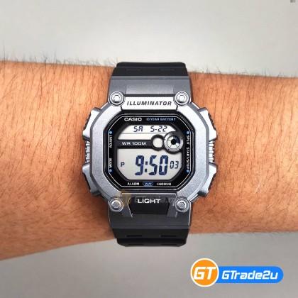 [CLEAR STOCK] Casio Stardard Men W-737H-1A2 W-737H-1A2 Digital Watch Silver Black Resin Band watch for man . jam tangan lelaki . casio watch for men . casio watch . men watch . watch for men  [READY STOCK]