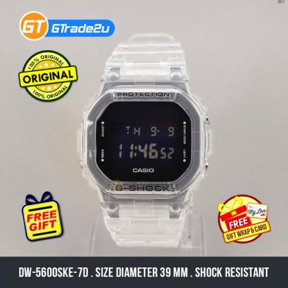 Casio G-Shock Men DW-5600SKE-7D DW5600SKE-7D DW-5600SKE-7 Digital Petak Jelly SKE Skeleton Watch Clear Resin Band G Shock . watch for man . jam tangan lelaki . casio watch for men . casio watch . men watch . watch for men [READY STOCK]