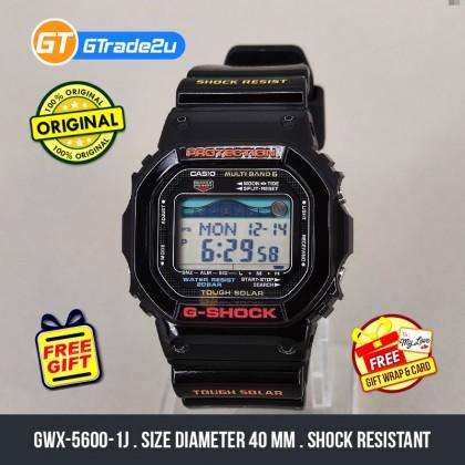 Casio G-Shock Men GWX-5600-1J GWX5600-1J Digital G-Lide Multi-Band 6 Japan Set Watch Black Resin Band G Shock . watch for man . jam tangan lelaki . casio watch for men . casio watch . men watch . watch for men [READY STOCK]