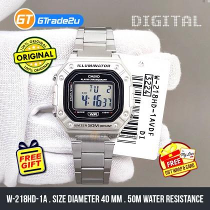 Casio Standard Men W-218HD-1A W218HD-1A Digital Watch Silver Stainless Steel Band watch for man . jam tangan lelaki . casio watch for men . casio watch . men watch . watch for men [READY STOCK]