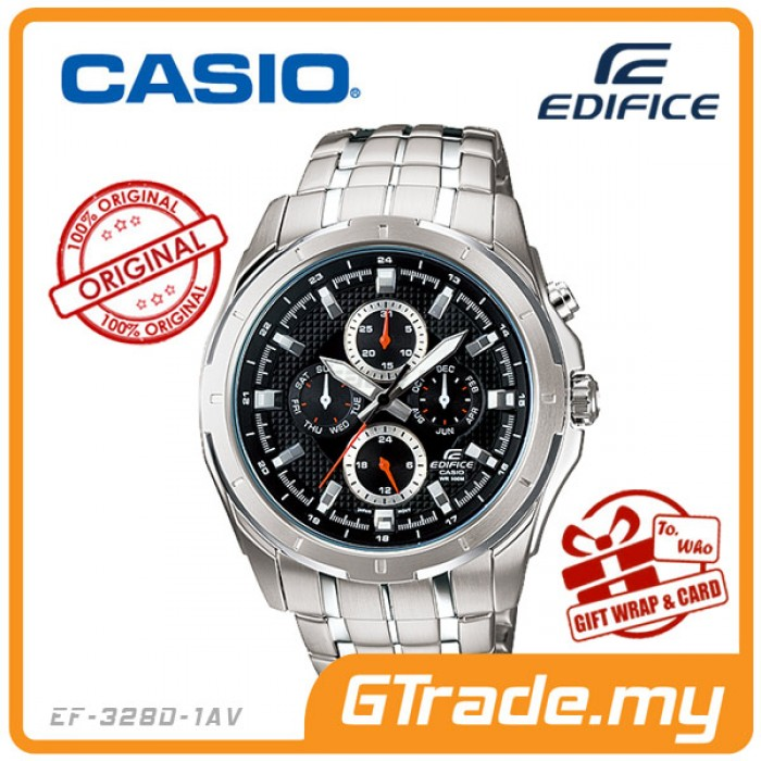 379888bd31 CASIO EDIFICE EF-328D-1AV Multi-Hand Watch | Four Dials Large Case