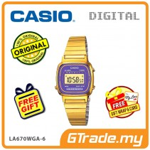 CASIO STANDARD LA670WGA-6 Digital Ladies Watch | Gold Retro Alarm