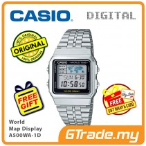 CASIO STANDARD A500WA-1 Digital Watch | Vintage Alarm World Map [PRE]