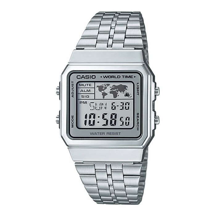 CASIO STANDARD A500WA 7 Digital Watch | Vintage Alarm World Map