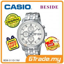 CASIO BESIDE BEM-511D-7AV Chronograph Watch | Sporty Date Disp. [PRE]