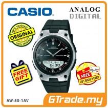CASIO STANDARD AW-80-1AV Analog Digital Watch | Wolrd Time 10Yrs Batt [PRE]