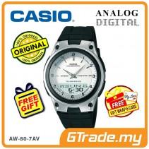 CASIO STANDARD AW-80-7AV Analog Digital Watch | Wolrd Time 10Yrs Batt [PRE]