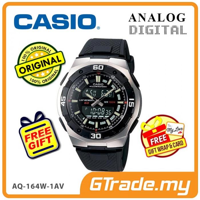 4fdeed5fc82 CASIO STANDARD AQ-164W-1AV Analog Digital Watch