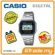 CASIO STANDARD A168WA-1U Digital Watch   Vintage Alarm Auto Calendar [PRE]