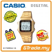 CASIO STANDARD A178WGA-1AV Digital Watch | Vintage Alarm Auto Calendar [PRE]