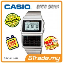 [READY STOCK] CASIO DATA BANK DBC-611-1D Digital Watch | Calculator Auto LED