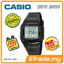 [READY STOCK] CASIO DATA BANK DB-36-1AV Digital Watch | 30 Telememo 10 Yrs Batt.