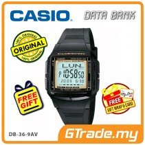 CASIO DATA BANK DB-36-9AV Digital Watch | 30 Telememo 10 Yrs Batt. [PRE]