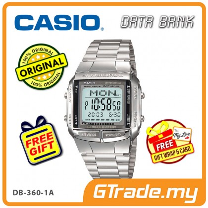[READY STOCK] CASIO DATA BANK DB-360-1A Digital Watch | 30 Telememo 10 Yrs Batt