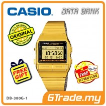 [READY STOCK] CASIO DATA BANK DB-380G-1 Digital Watch | 30 Telememo Dual Time