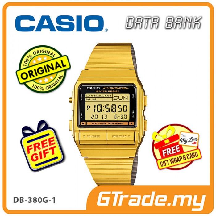 2f84bfa0ed4  READY STOCK  CASIO DATA BANK DB-380G-1 Digital Watch