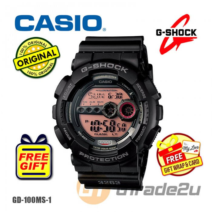 huge selection of fe8a6 7ffcb CASIO G-SHOCK GD-100MS-1 STANDARD Digital Watch | Military ...
