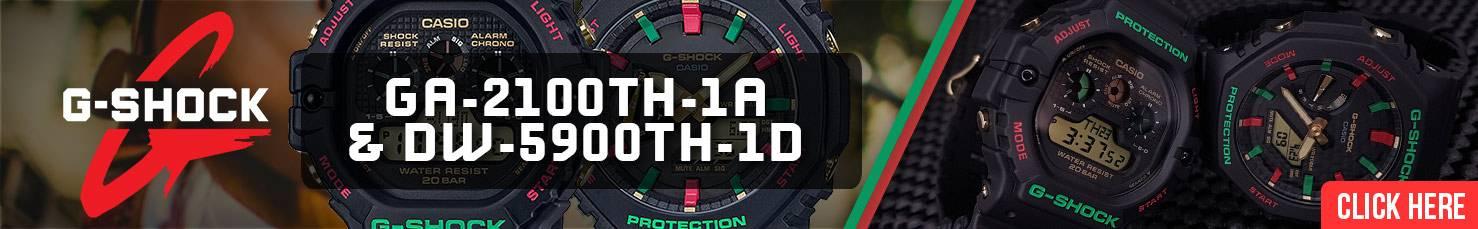 Casio G-Shock Rasta GA-2100TH& DW-5900TH