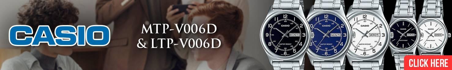 Casio Men Women Couple Analog MTP-V006D LTP-V006D