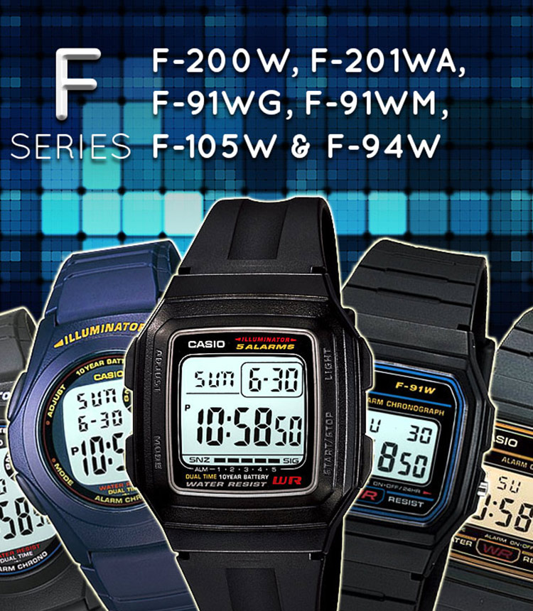 Casio F Digital Kids Series